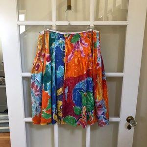 Ralph Lauren Color POP Flowing Color Skirt SZ 14
